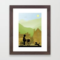 Childhood Dreams, Special Delivery Framed Art Print
