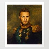 Gary Barlow - replaceface Art Print