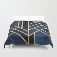 Art Deco Midnight Duvet Cover