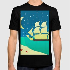 Spanish Galleon SMALL Black Mens Fitted Tee