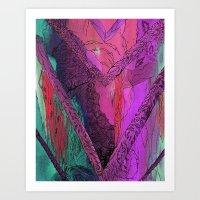 Purple Chevron Art Print