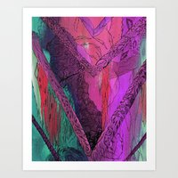 Purple Chevron Art Print