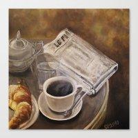Petit Déjeuner à Paris Canvas Print