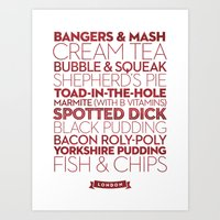 London — Delicious Cit… Art Print