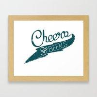 CHeers & BEerS Framed Art Print