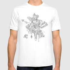 HABITATS Mens Fitted Tee White SMALL