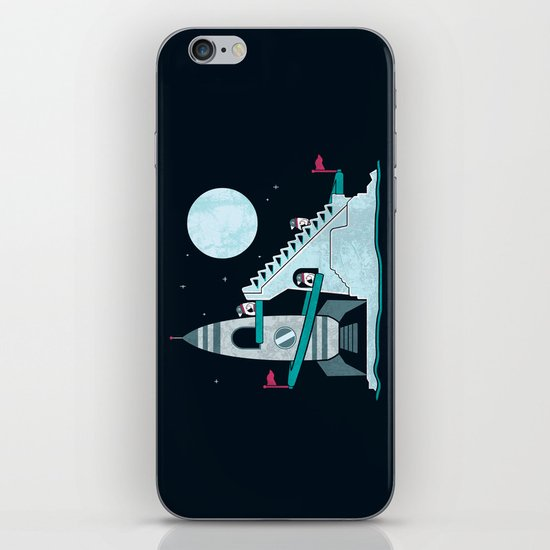 Penguin Space Race iPhone & iPod Skin