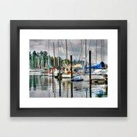 Vancouver Boat Harbor Framed Art Print