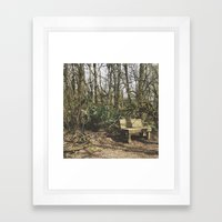 TAKE A SEAT Framed Art Print