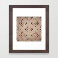 Arrowheads Diamond - Vintage Tones Framed Art Print