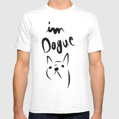 dogue french bulldog Mens Fitted Tee White SMALL