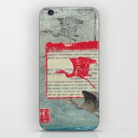 Blue Heron Collage iPhone & iPod Skin
