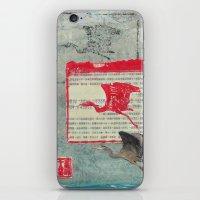 Blue Heron Collage iPhone & iPod Skin