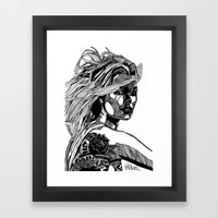 B&W Fashion Illustration - Wilko Johnson Framed Art Print