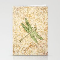 Dragonfly Floral Stationery Cards