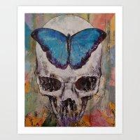Butterfly Skull Art Print