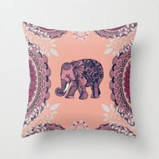 Bohemian Elephant  Throw Pillow