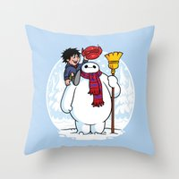 Inflatable Snowman Throw Pillow