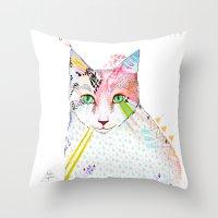 Cat / March Throw Pillow