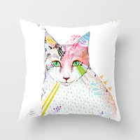 Cat / March Throw Pillow