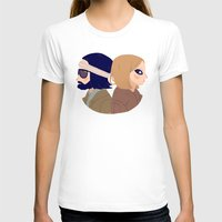 Margot And Richie Womens Fitted Tee White SMALL