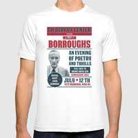 Borroughs Event Mens Fitted Tee White SMALL