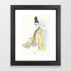 'Alice' Watercolor Fashion Illustration Framed Art Print