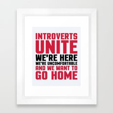 Introverts Unite Funny Q… Framed Art Print
