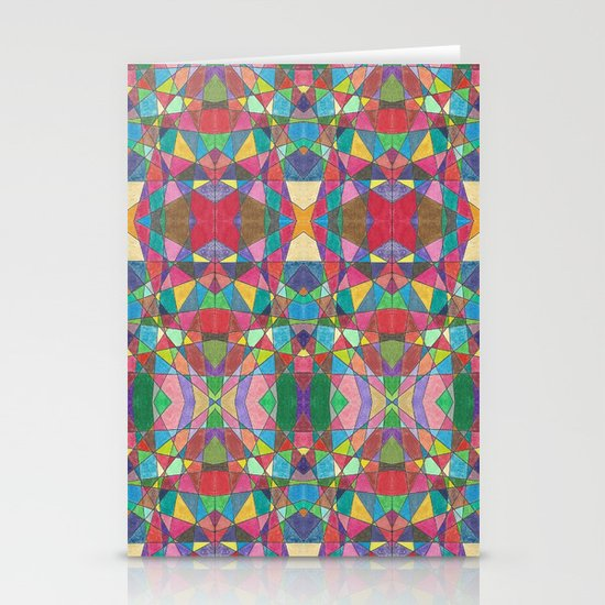 Criss Cross Colorful Stationery Card