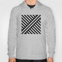 B/W two way diagonal stripes Hoody