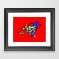 Raja-Red Framed Art Print