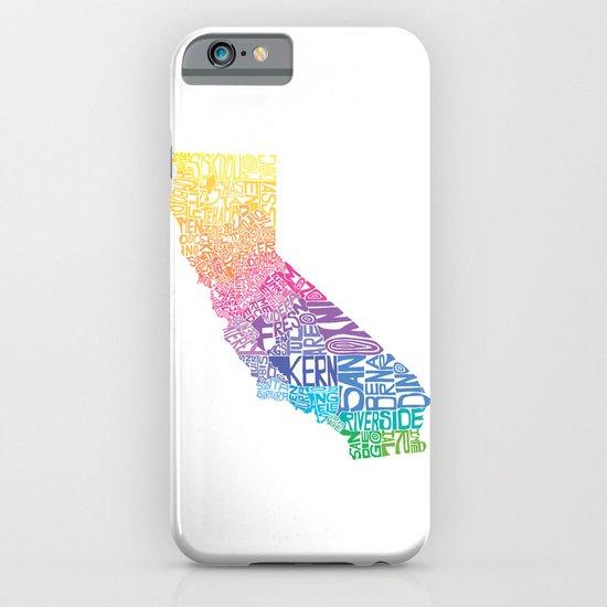 Typographic California - Springtime iPhone & iPod Case