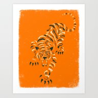 Art Print featuring TIGER by Jazzberry Blue