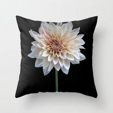 Cafe au lait dahlia Throw Pillow