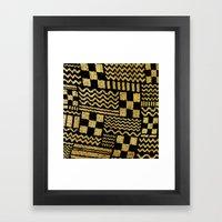 Gold Fuse Framed Art Print