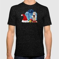 Christmas Present Snowma… Mens Fitted Tee Tri-Black SMALL