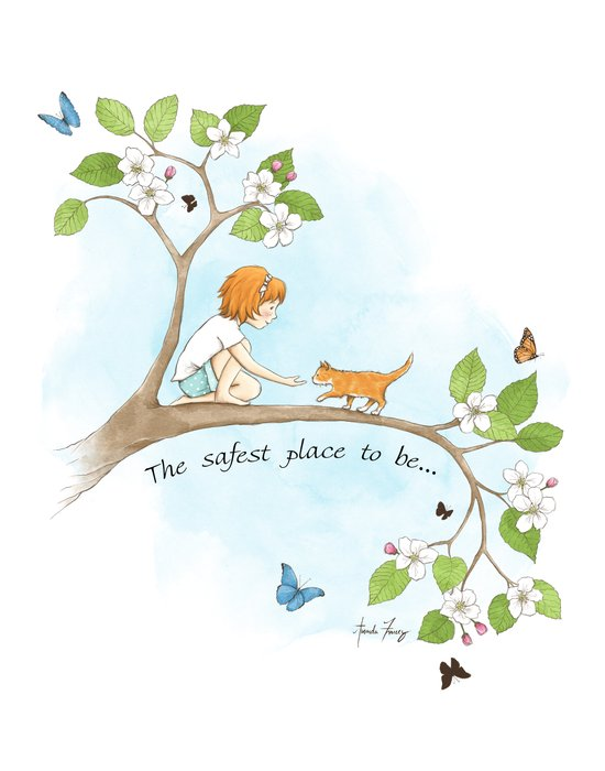 The safest place to be... Art Print