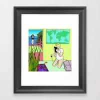 Travel Plans Framed Art Print
