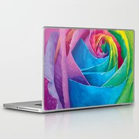 rose Laptop & iPad Skins featuring Rose  by Aloke Design