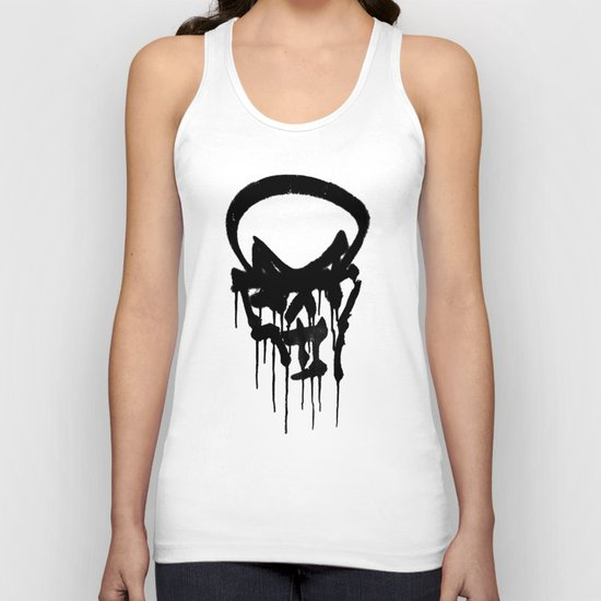 Graffiti Skull Unisex Tank Top