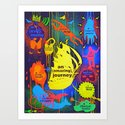 """YOUR OWN ADVENTURE"" (in Ultraviolet light) Art Print"