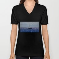 Unisex V-Neck featuring Free by Christophe Chiozzi
