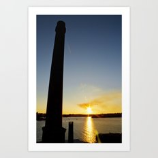 Sunset on Cockatoo Island Art Print