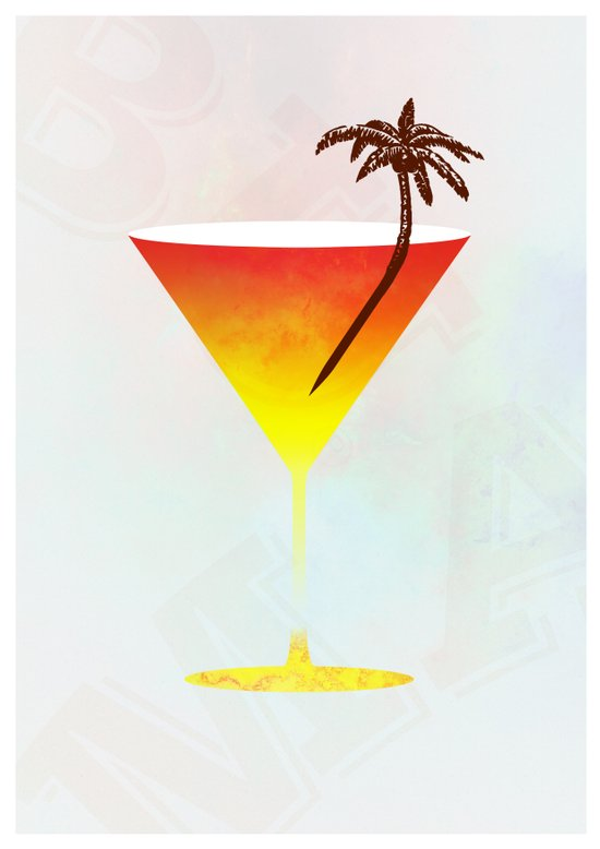 Rum Cocktail Art Print