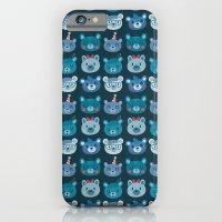 Cute Bear Faces Pattern iPhone 6 Slim Case