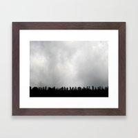 Stabbing at the Sky Framed Art Print