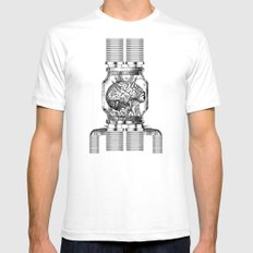 Mother Brain Super Metroid Engraving Scene White Mens Fitted Tee SMALL