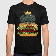 King of Burgers Green Mens Fitted Tee Tri-Black SMALL