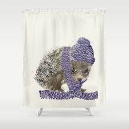 Shower Curtain - little winter hedgehog - bri.buckley