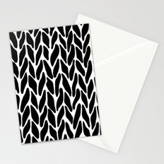 Hand Knitted Black on White Stationery Cards